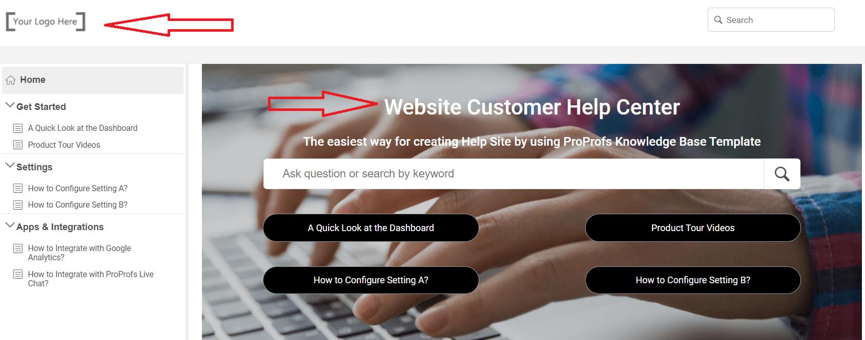 free website help center templates