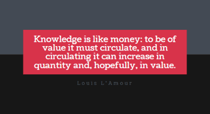 Knowledge is Money