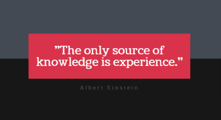 Knowledge is Experience