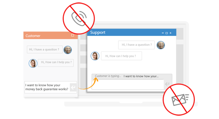 Implement live chat to your website for cost-effective support