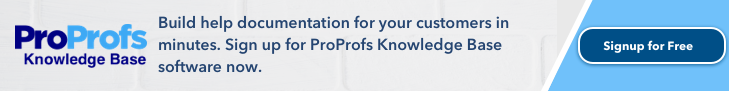 Sign up for ProProfs Knowledge Base