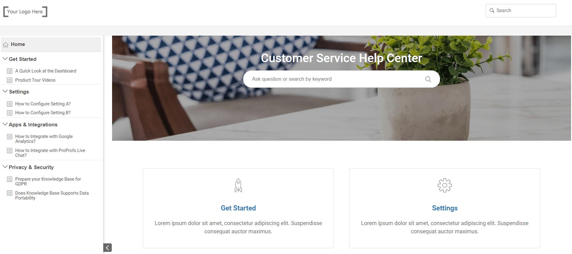 choose free customer service knowledge base templates