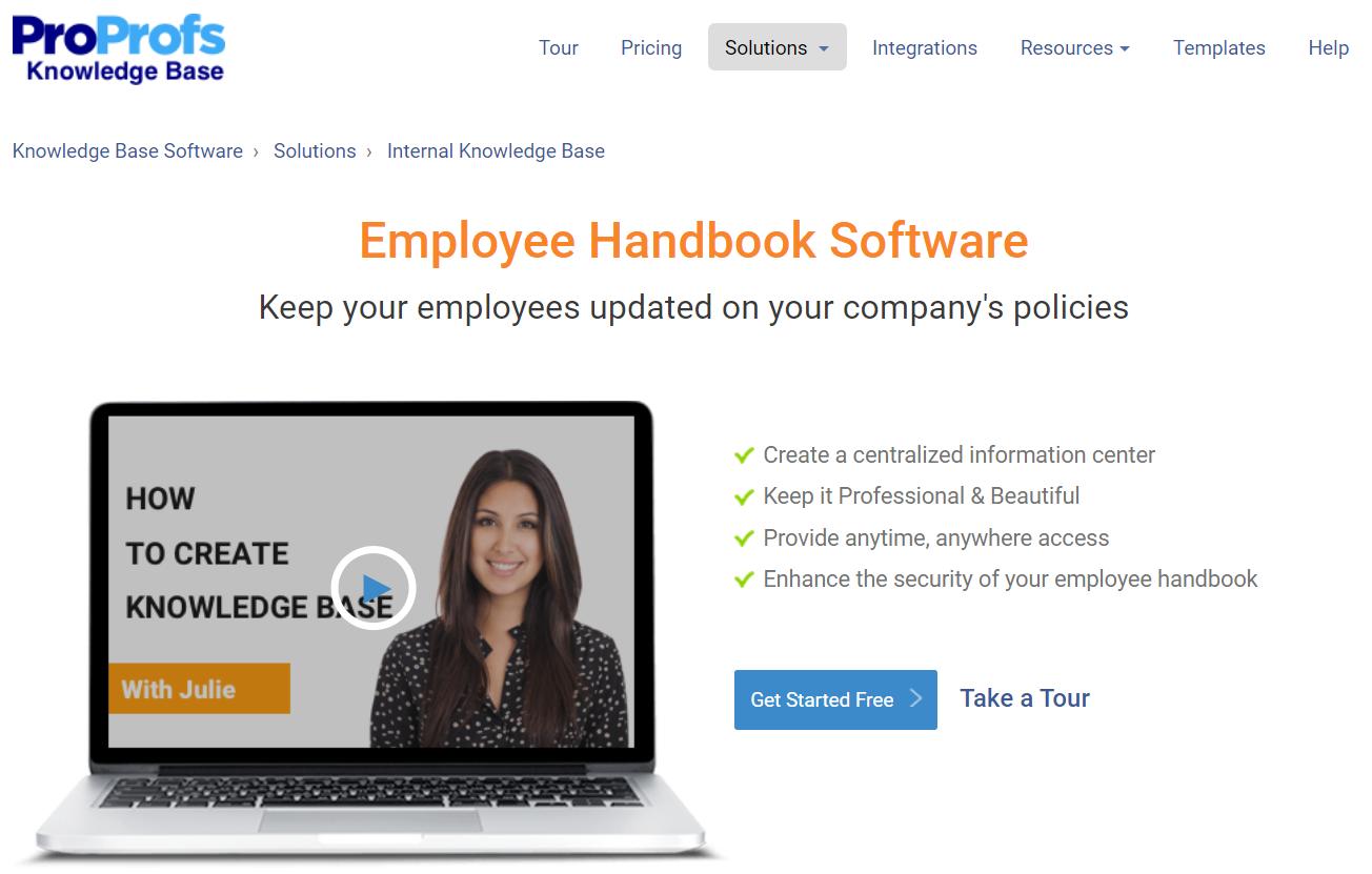 ProProfs Employee Handbook Software
