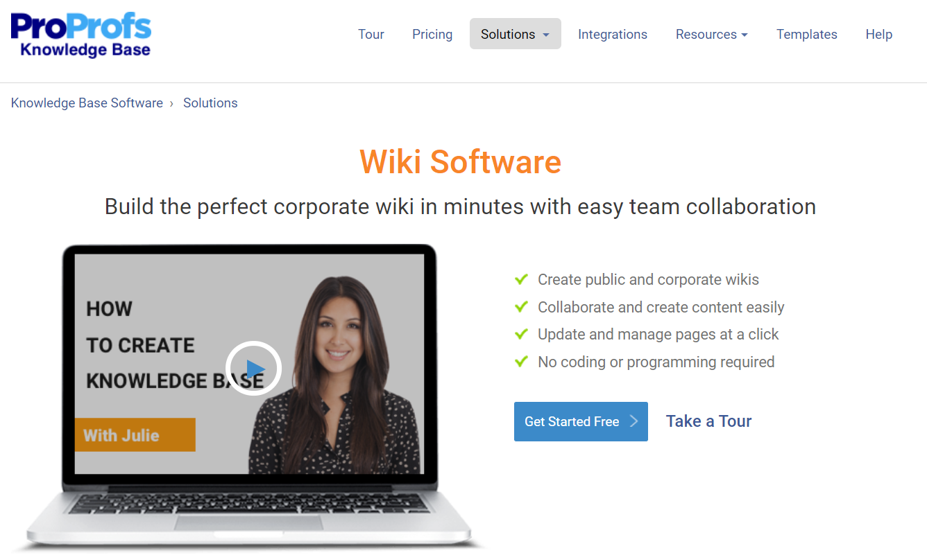 ProProfs Wiki Software