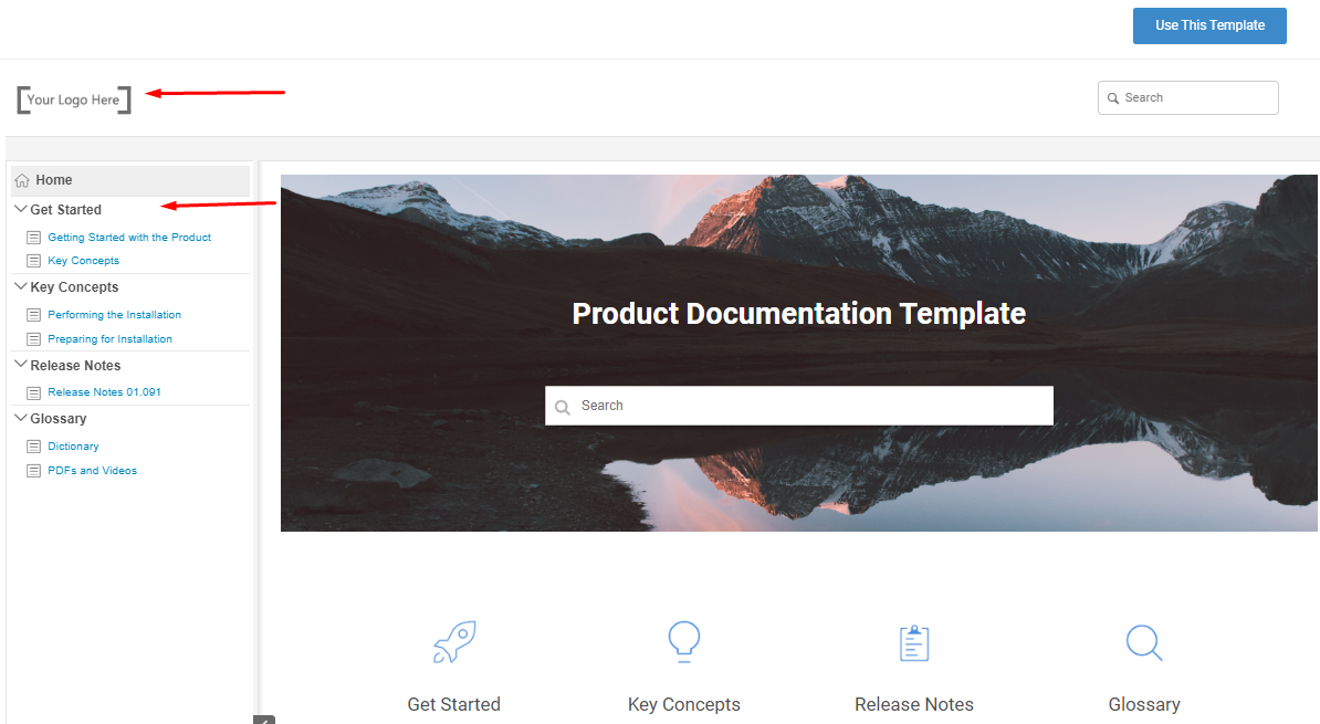 Product Documentation free templates