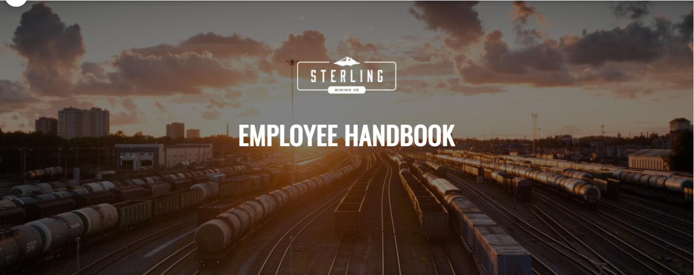 Sterling Employee handbook