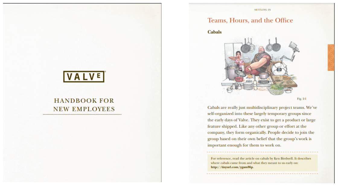 Valve Employee Handbook Content for New Employees
