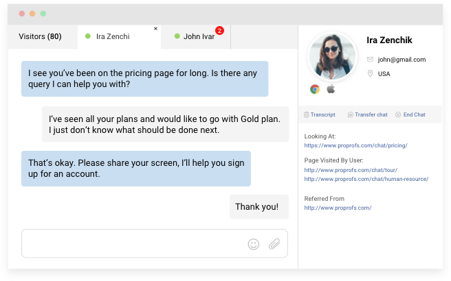 ecommerce live chat service