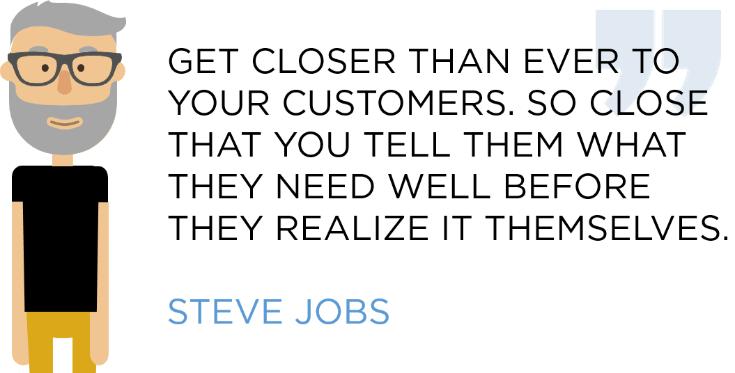 Steve Jobs on customer satisfaction
