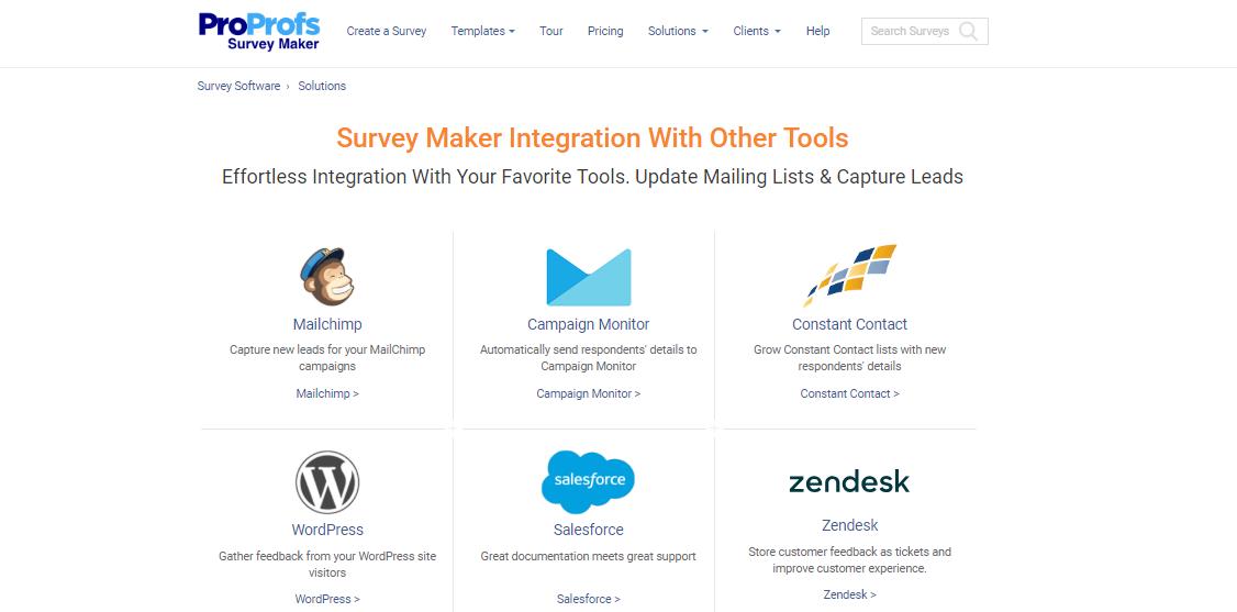 survey-maker-integrations - ProProfs