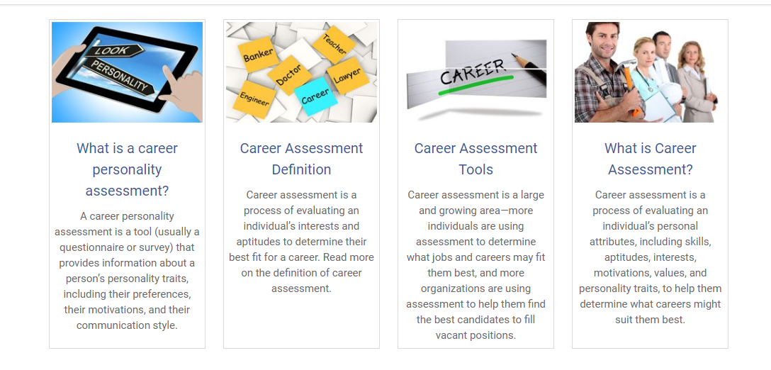 Career Assessment or Personality Test