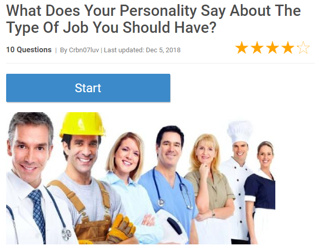 What Does Your Personality Say About The Type of Job You Should Have