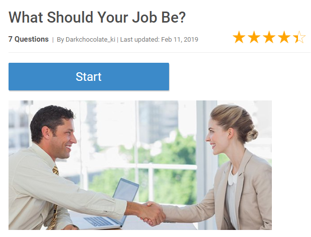 What Should Your Job Be