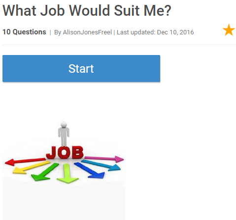 What Job Would Suit Me