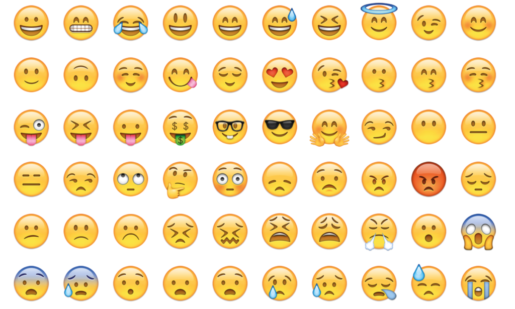 Select emojis expressions