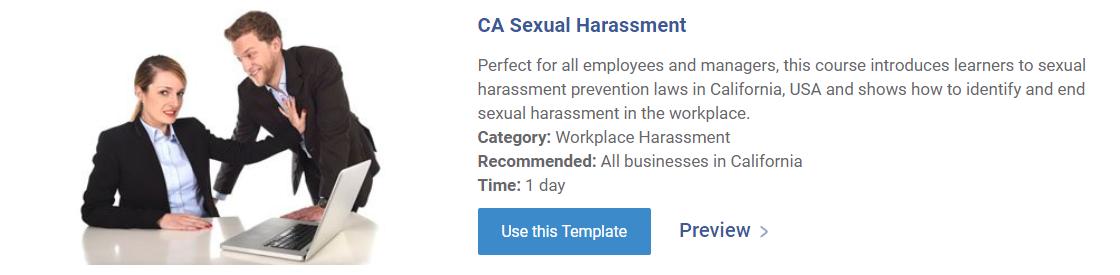 CA Sexual Harassment