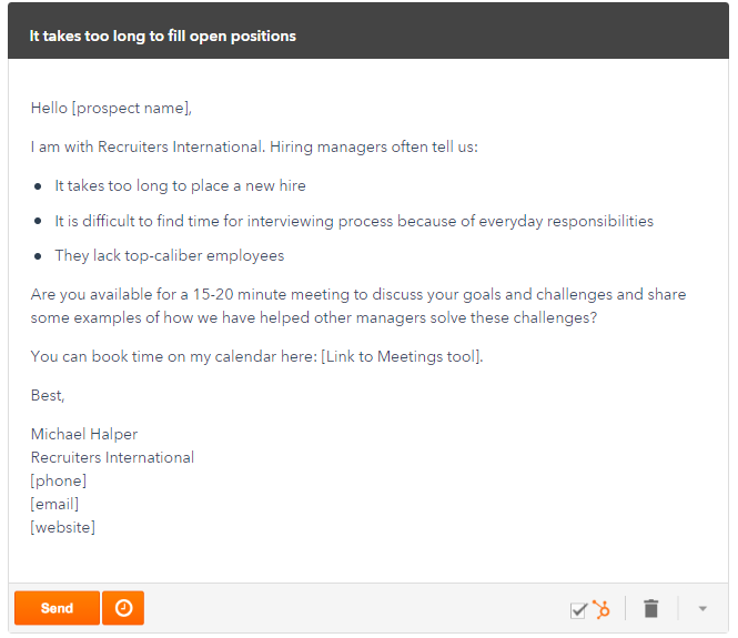 Sales email template examples for sales enablement