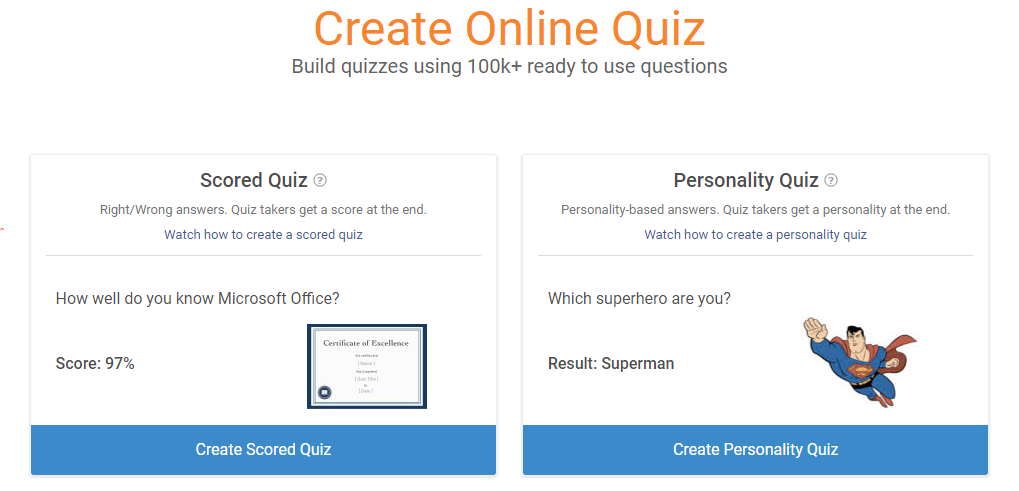 Create Scored Quiz