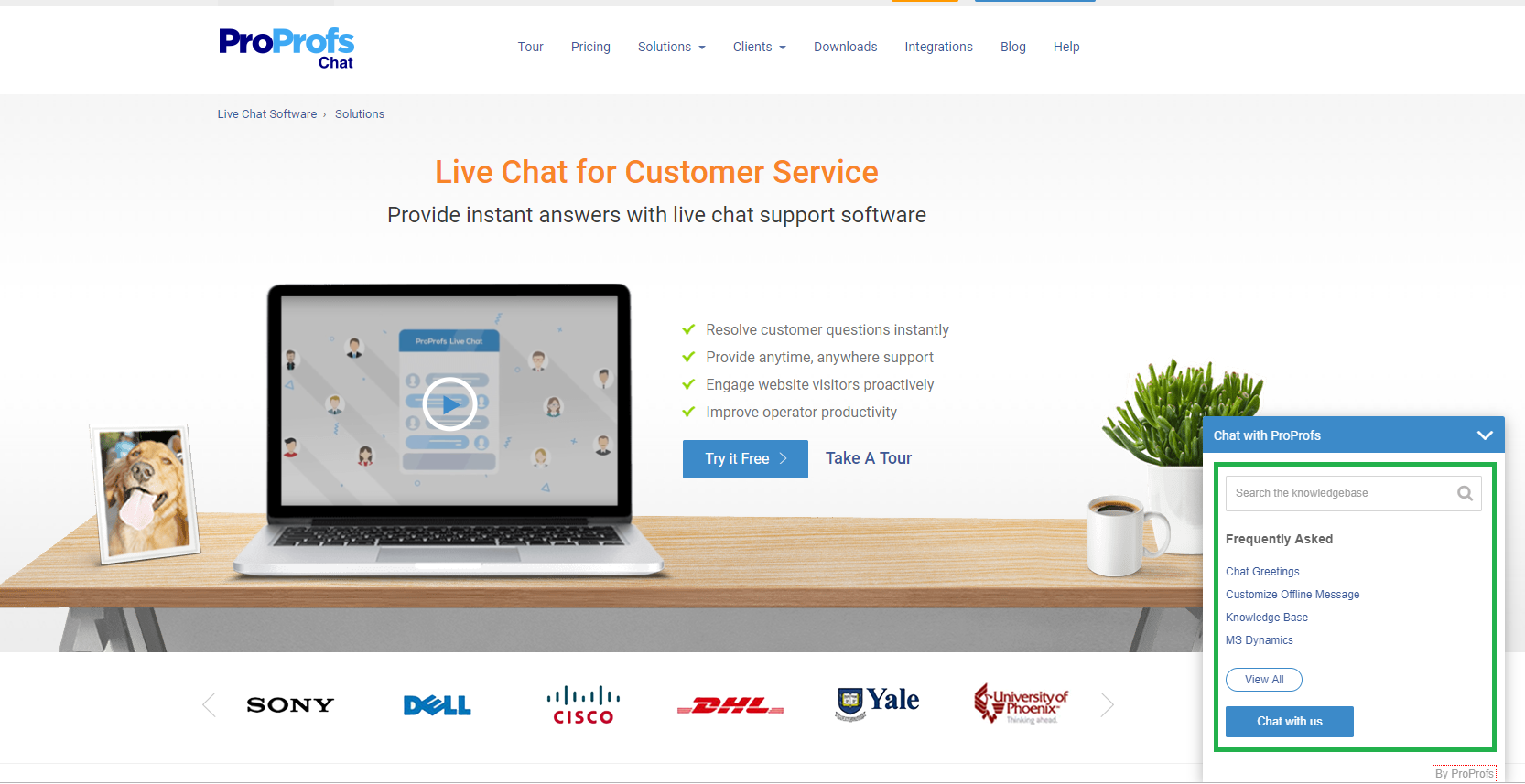 Integrate live chat with a knowledge base
