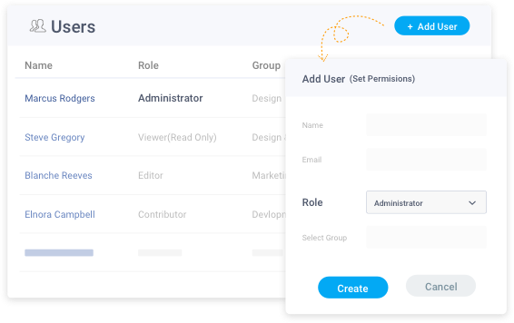 Add and manage new user in your knowledge base