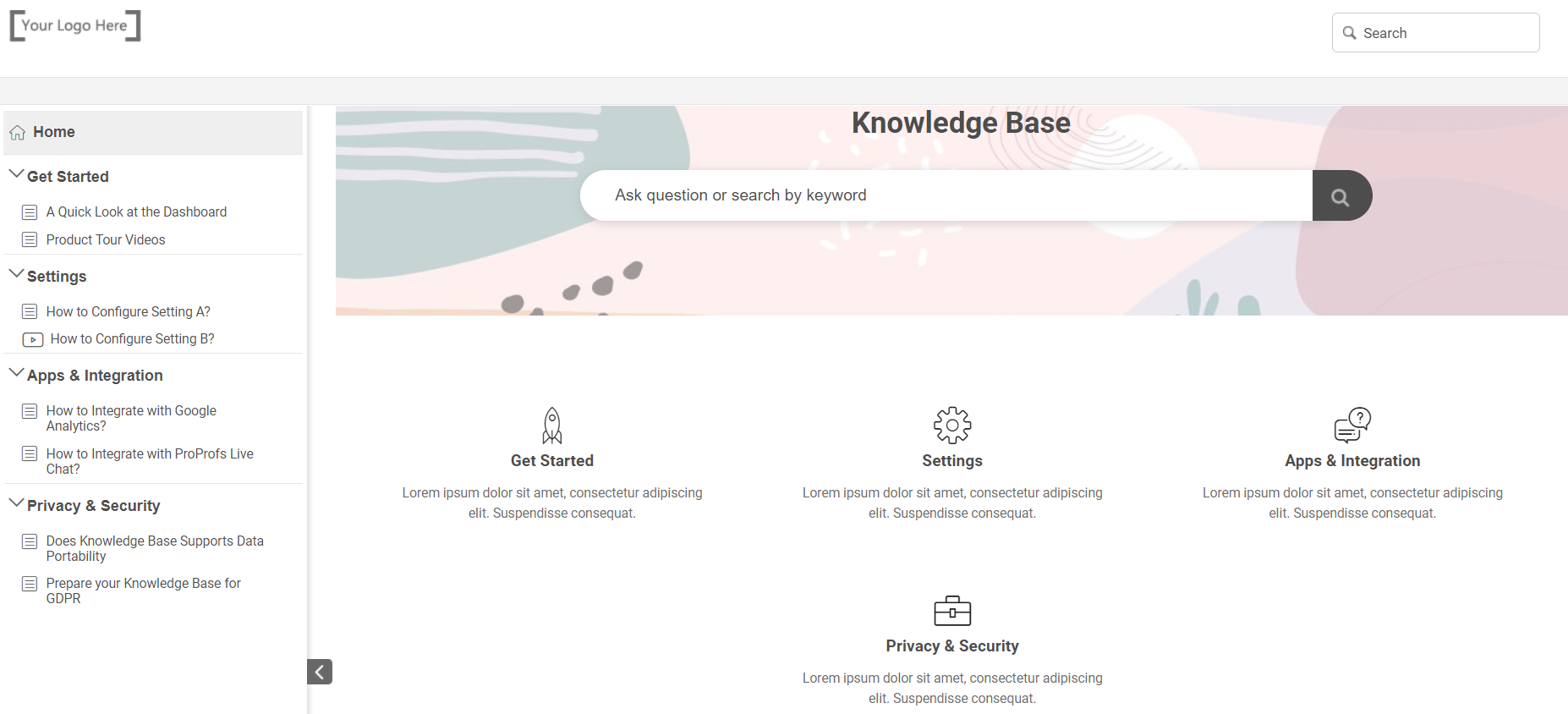 Knowledge Base Free Templates