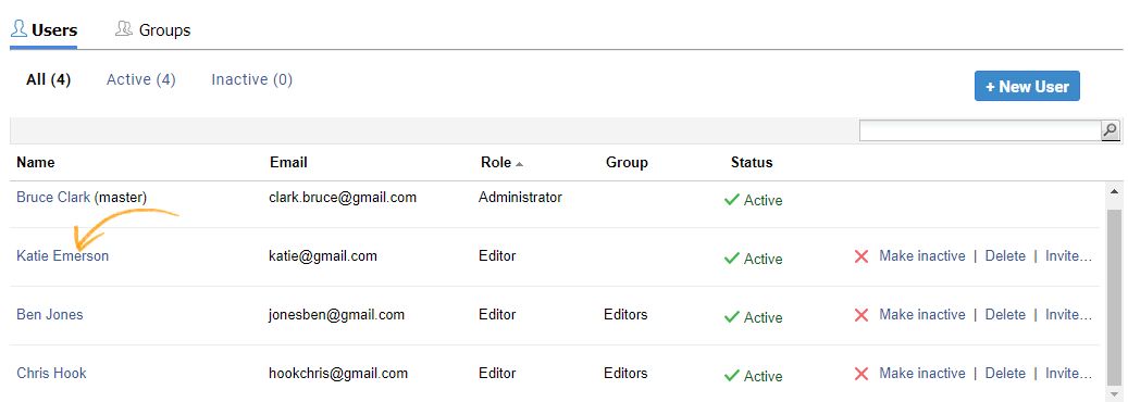 Roles and Permission in a knowledge base