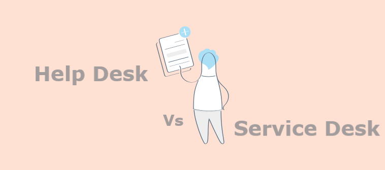 Key differences between help desk and service desk