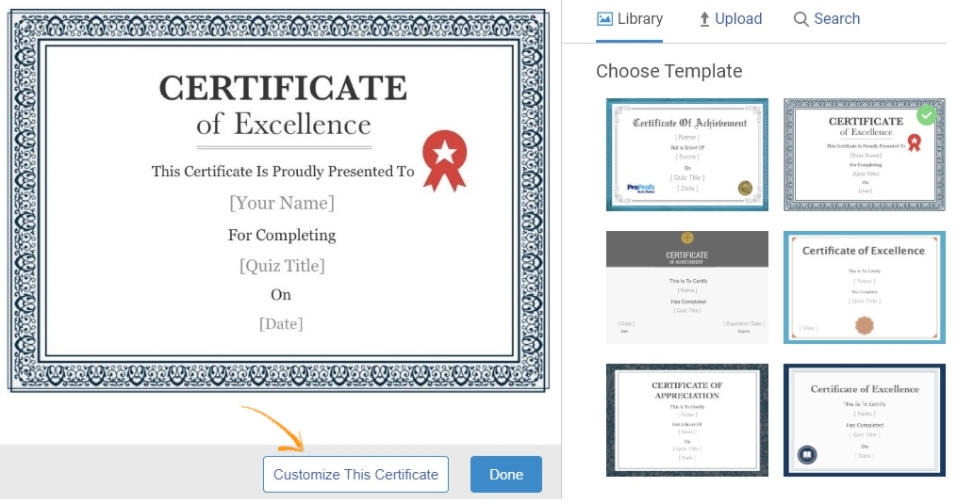 Set-Up your Completion Certificates