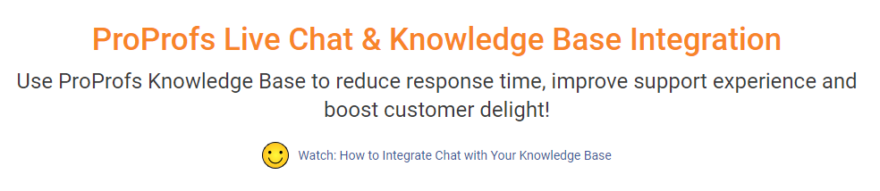 live chat and knowledge base integration