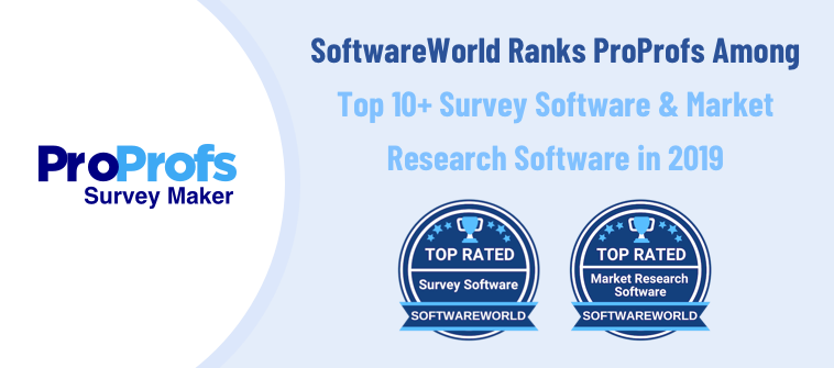 SoftwareWorld Ranks ProProfs Among Top 10+ Survey Software & Market Research Software in 2019
