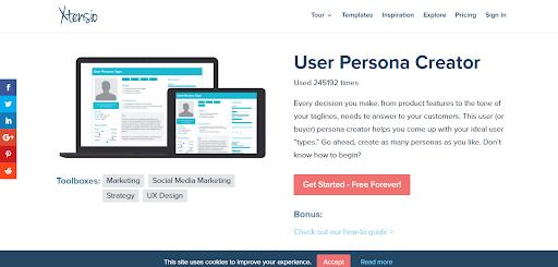 Xtensio's User Persona Generator