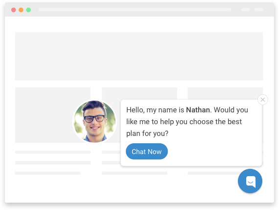 live chat popup
