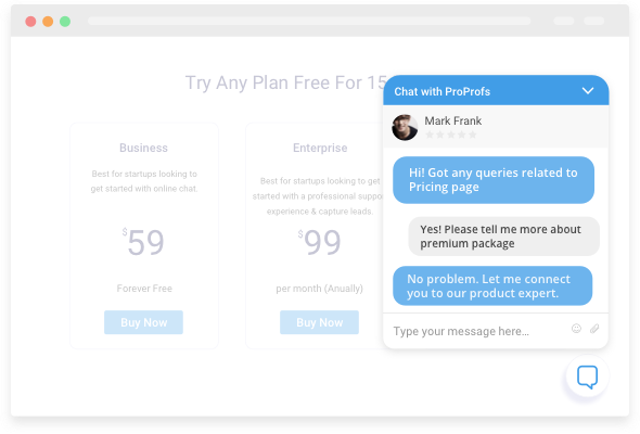 proactive live chat window