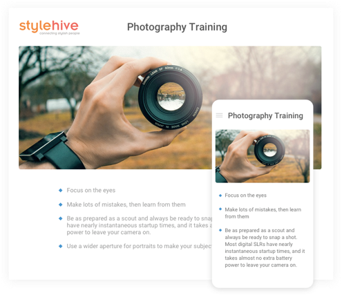 Add images, videos and info-graphics in your training manual