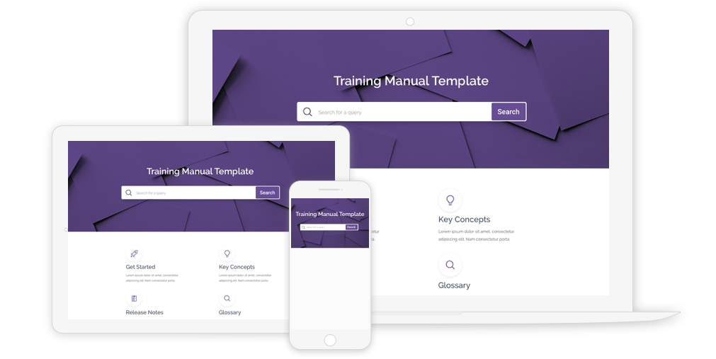 Free training manual templates offered by ProProfs