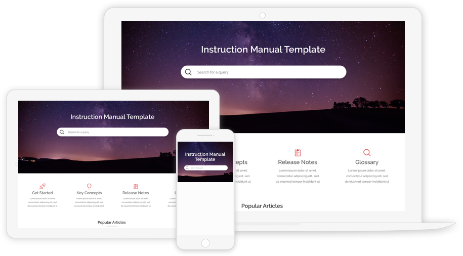 Best Technical Manual Template Example