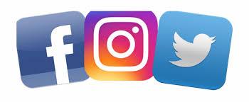 Various social media platforms for customer support