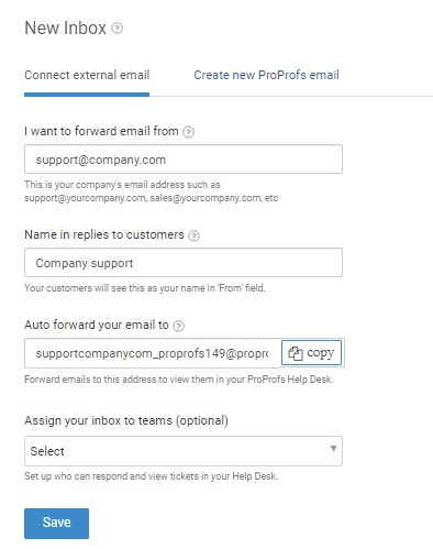 Connect external email