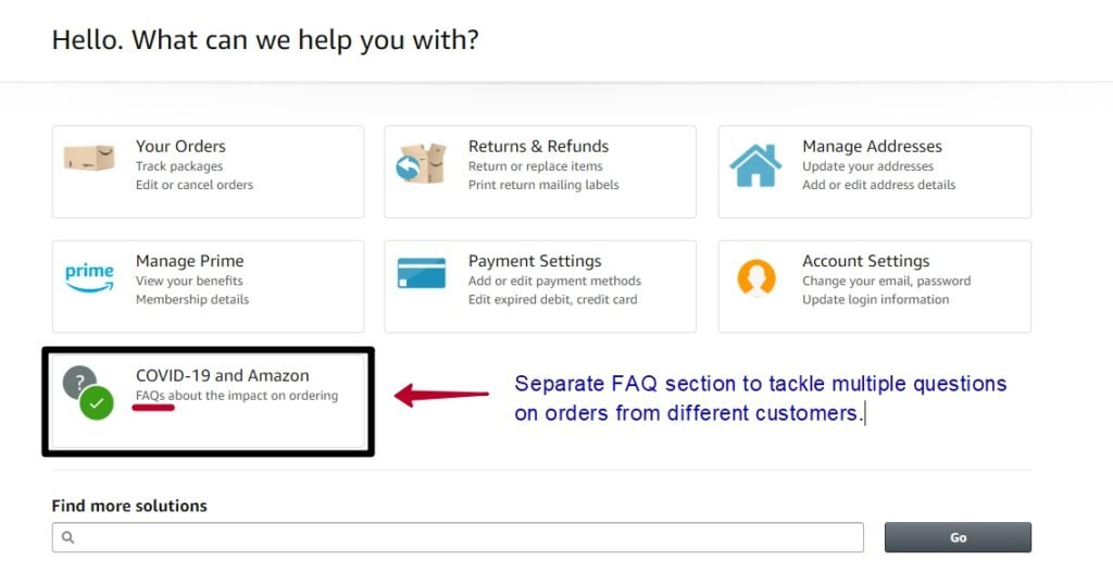 Knowledge base to tackle FAQs