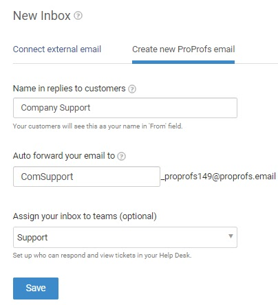 Create new proprofs email