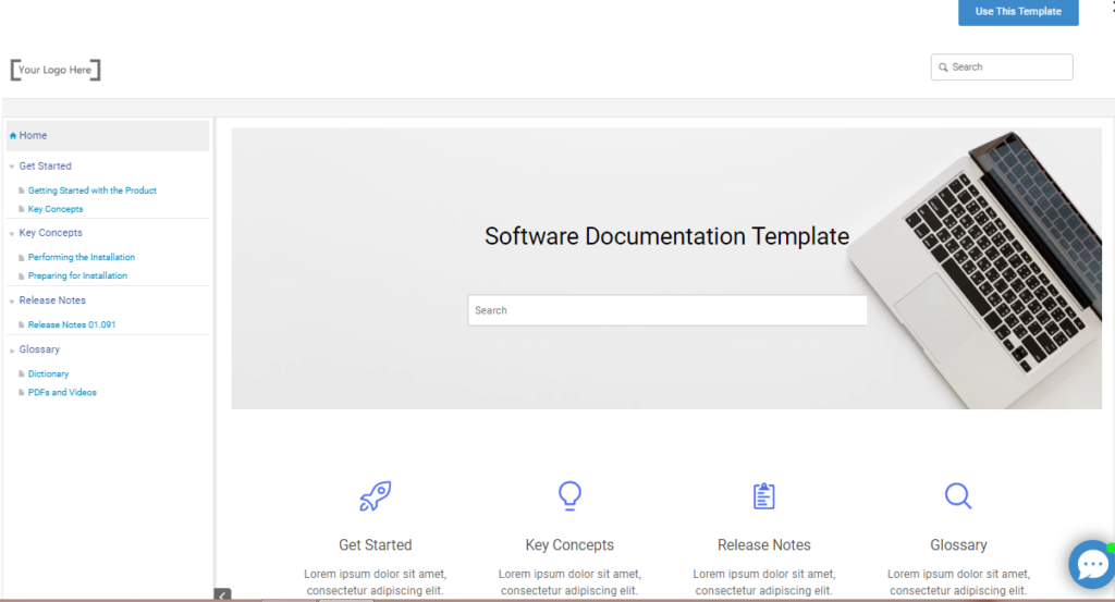 Ready to use free software documentation template
