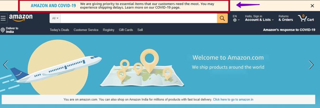 Amazon delivery strategy during coronavirus