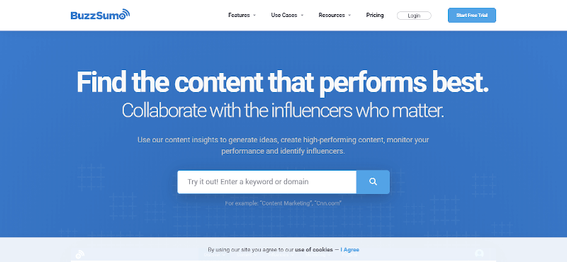 BuzzSumo-content discovery tool