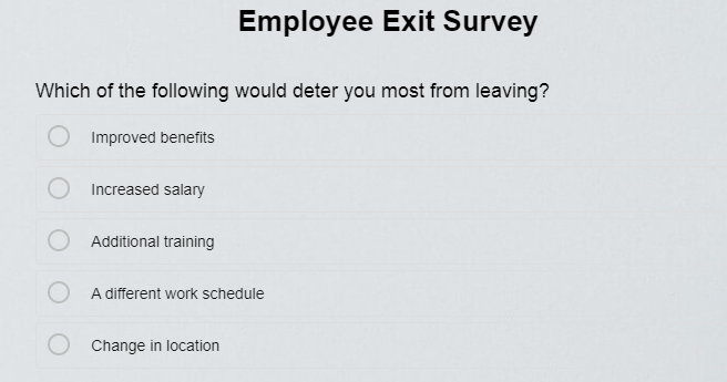 Exit Survey