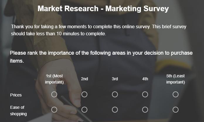 Market Research Survey