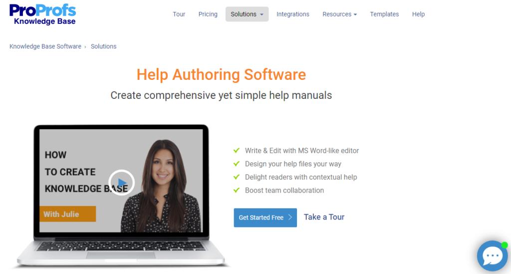 ProProfs help authoring tool