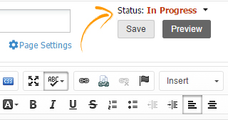 Corporate wiki content Status in Progress