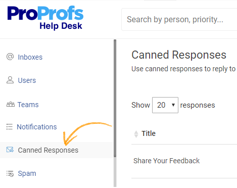 Create canned responce