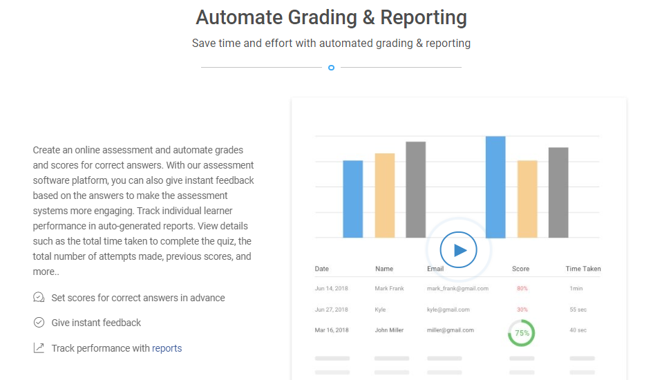 Automatic Grading and Reporting