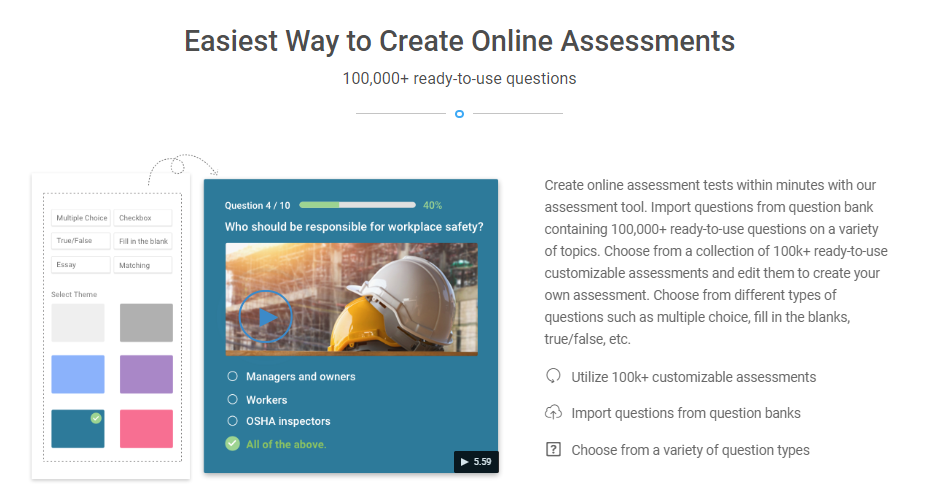 Create Online Assessments